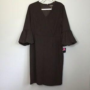Liz Claiborne Black 3/4 Sleeve Dress size 14